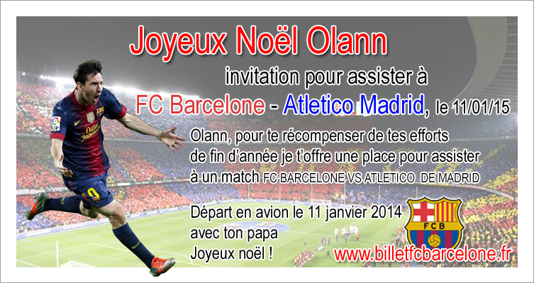 Carte Cadeau Pour Assister A Un Match De Foot Billetfcbarcelone Fr
